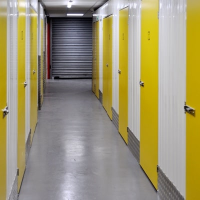 Hallway of self storage doors units in Epsom Surrey
